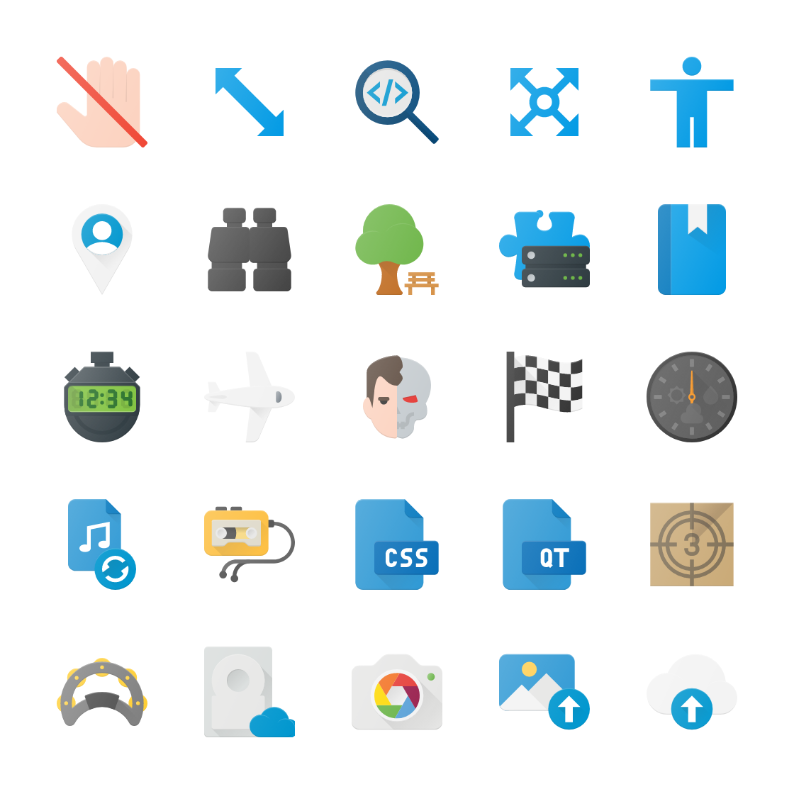 Flat Paper Icon Bundle