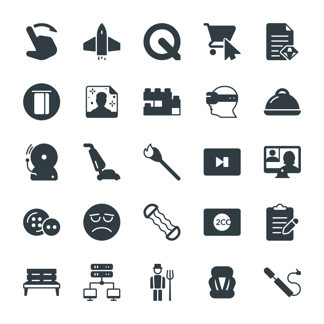 Glyph icons Bundle