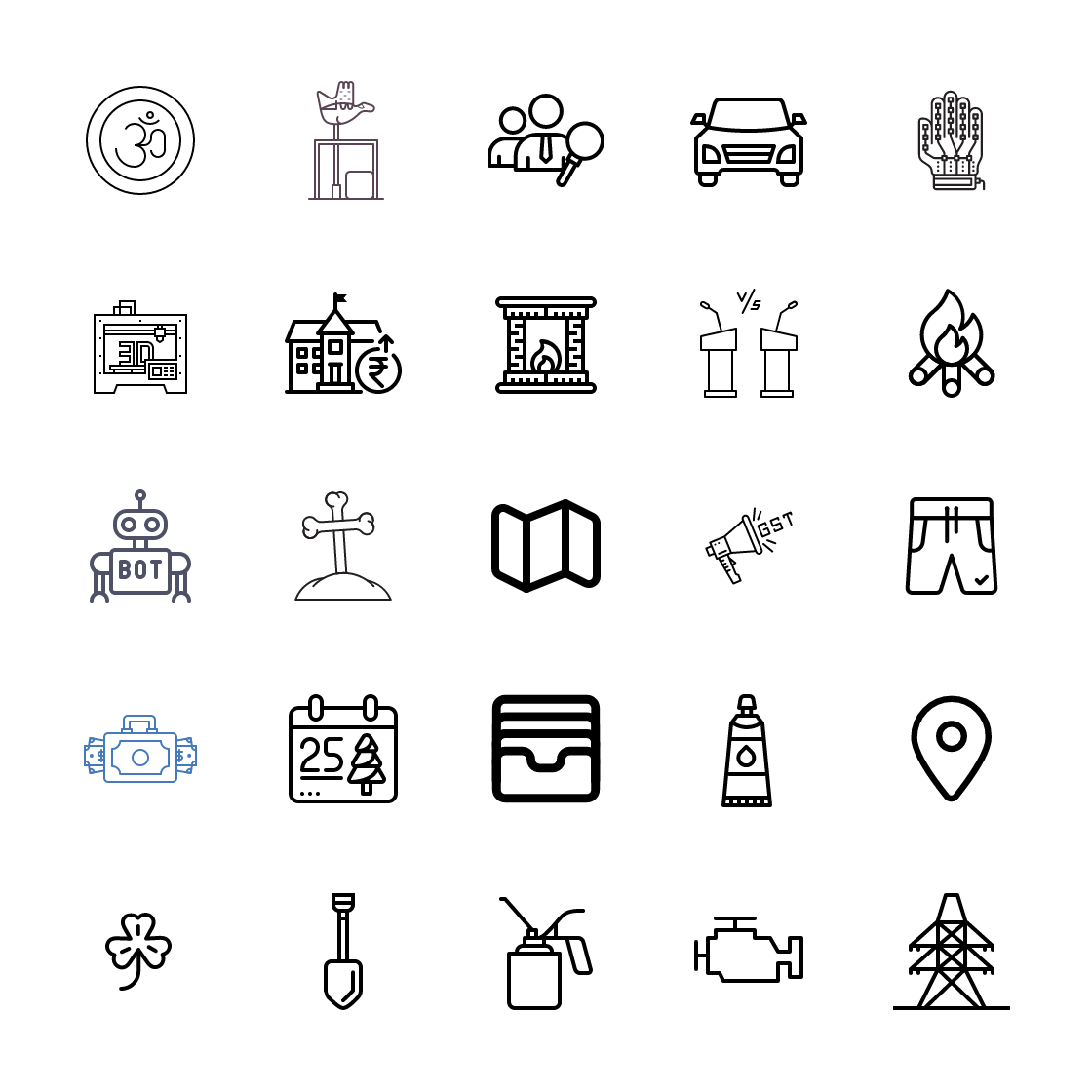 Line icons Bundle