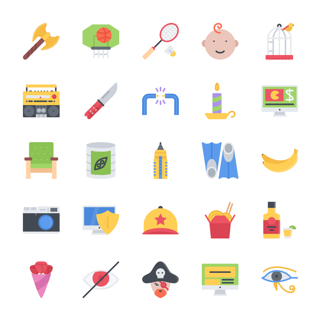 Modern Flat Icons Bundle