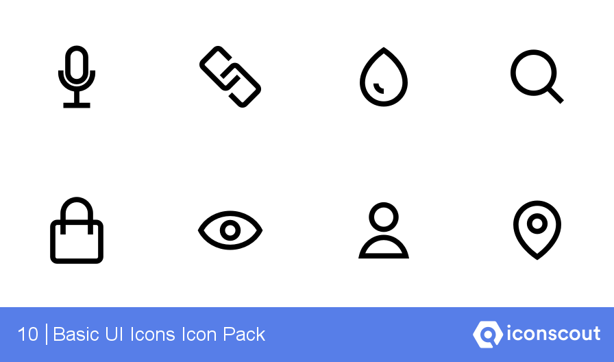 Basic UI Icons Icons