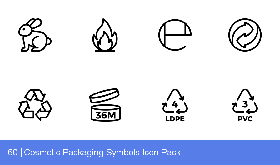 Cosmetic Packaging Symbols Icons