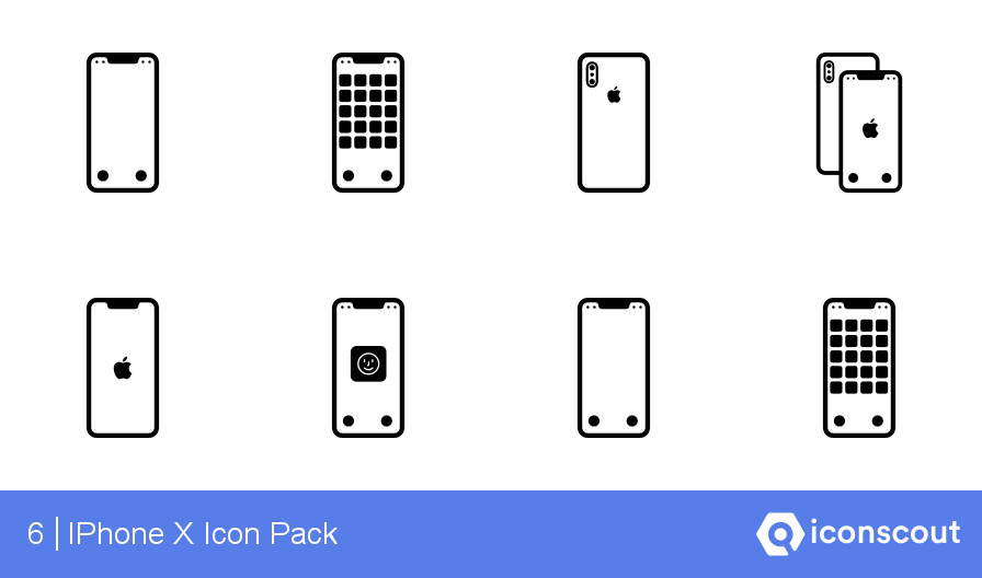 Download IPhone X Icon pack - Available in SVG, PNG, EPS, AI