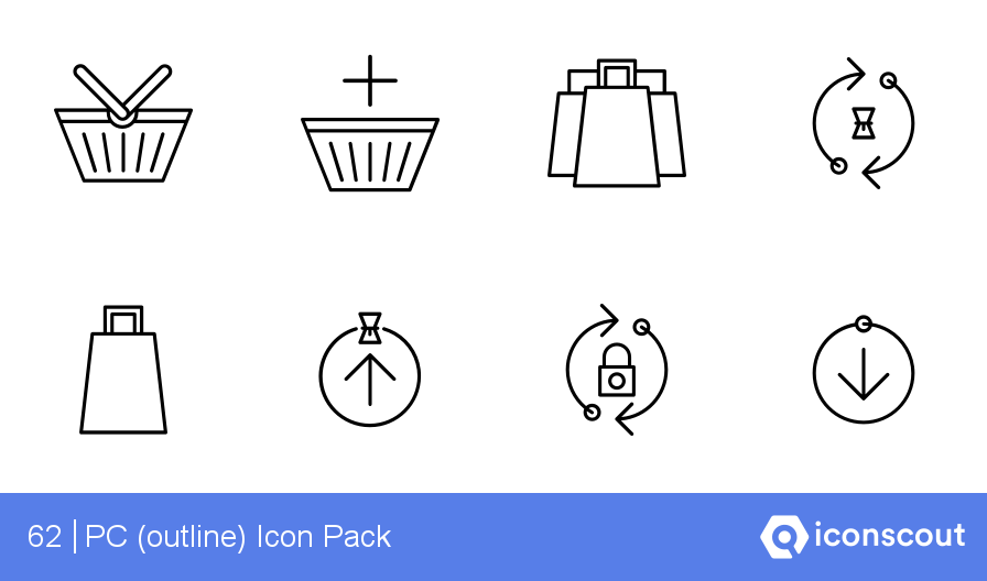 PC (outline) Icons