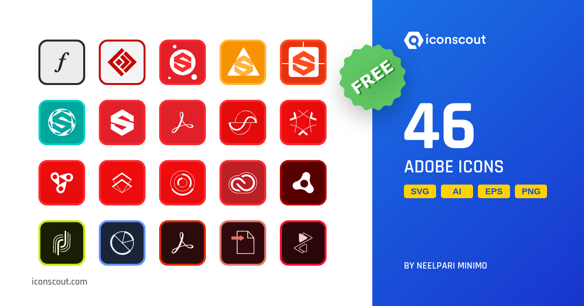 Download Download Adobe Icon pack - Available in SVG, PNG, EPS, AI ...