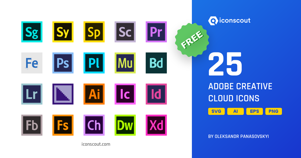 Download Download Adobe Creative Cloud Icon pack - Available in SVG ...