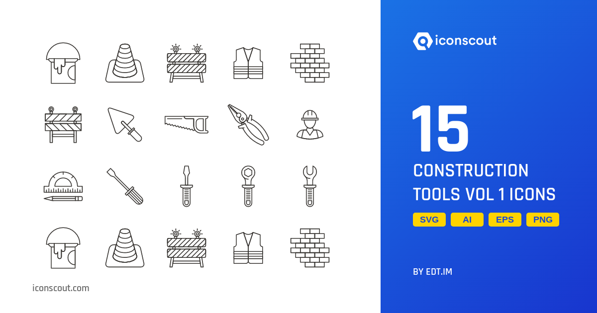Download Construction Tools Vol 1 Icon pack - Available in SVG, PNG, EPS,  AI & Icon fonts