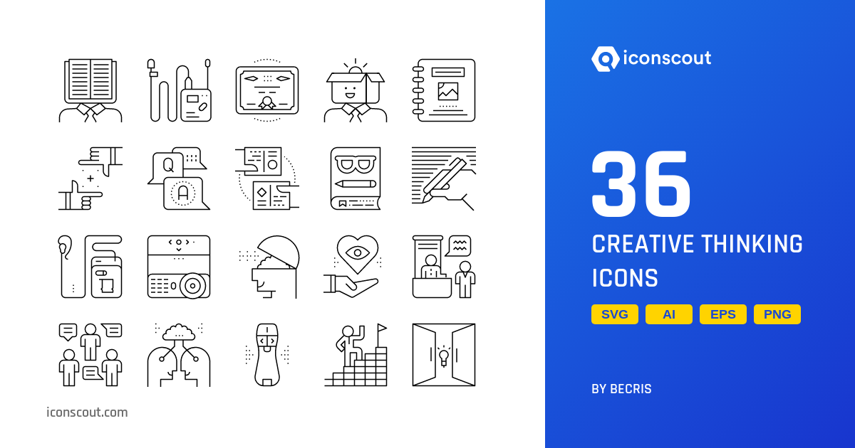 Download Download Creative Thinking Icon pack - Available in SVG ...