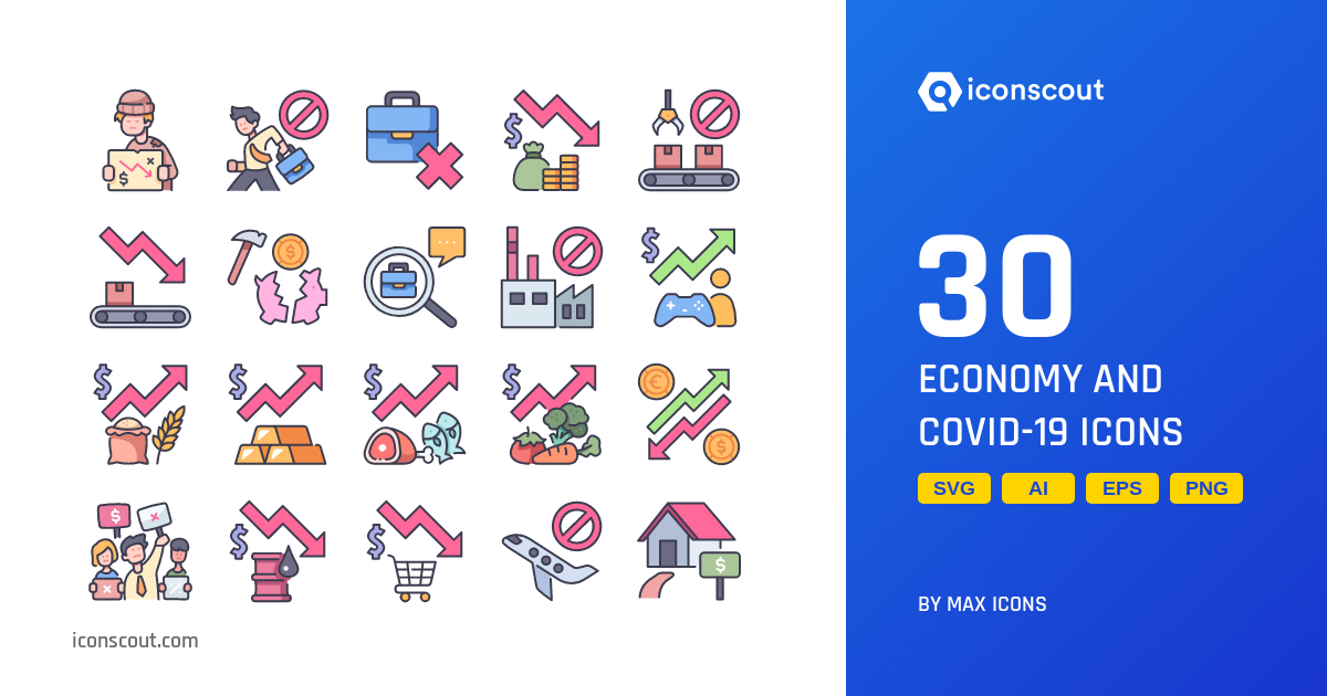 Economy And COVID-19 Icons