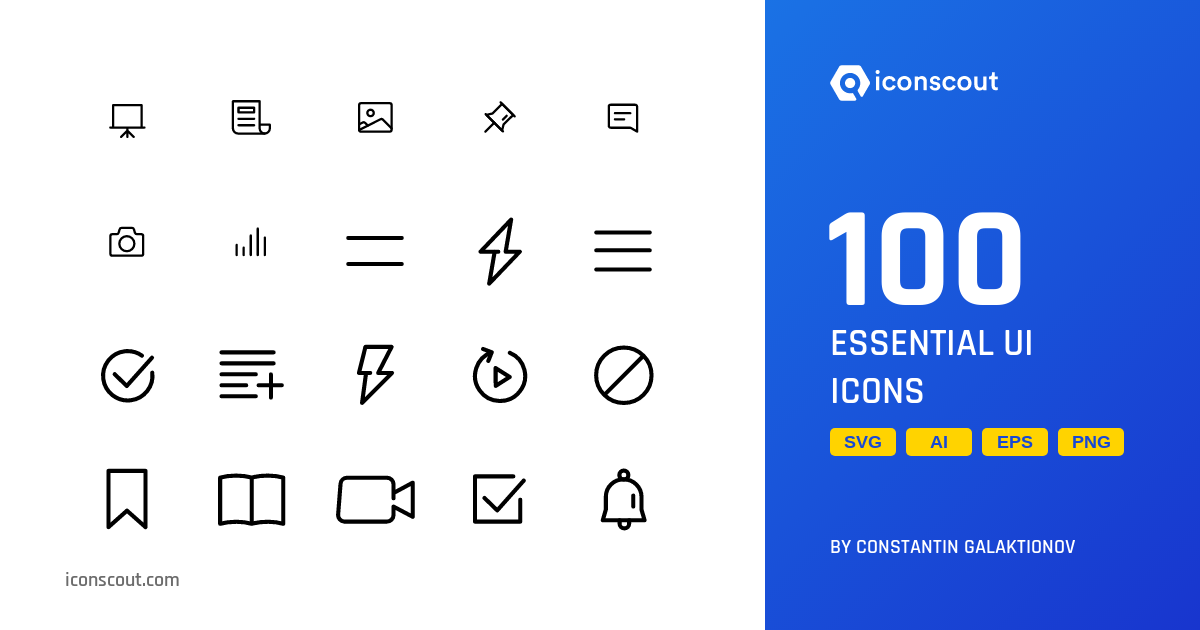 Download Download Essential UI Icon pack - Available in SVG, PNG ...
