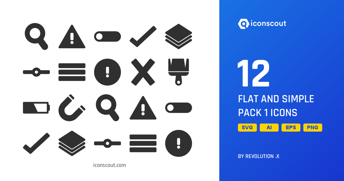 Download Flat And Simple Pack 1 Icon pack - Available in SVG, PNG, EPS, AI  & Icon fonts