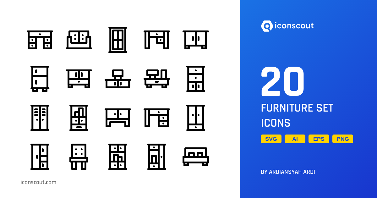 Download Furniture Set Icon pack - Available in SVG, PNG, EPS, AI & Icon  fonts