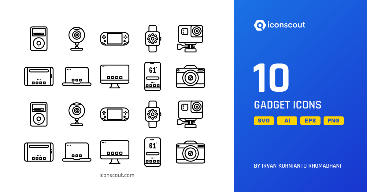 Download Download Gadget Icon pack - Available in SVG, PNG, EPS, AI ...