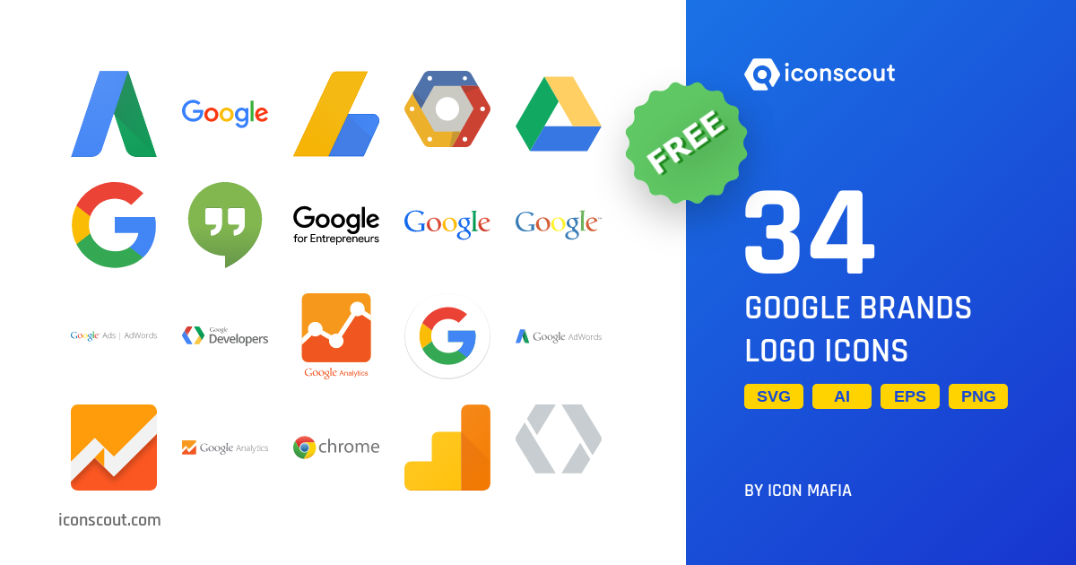 Download Download Google Brands Logo Icon pack - Available in SVG ...