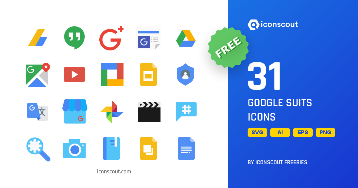 Download Download Google Suits Icon pack - Available in SVG, PNG ...