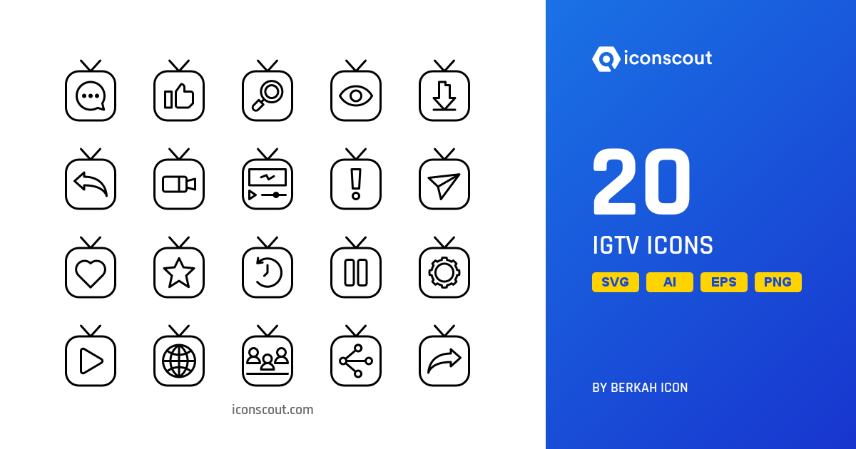 Download Download IGTV Icon pack - Available in SVG, PNG, EPS, AI ...