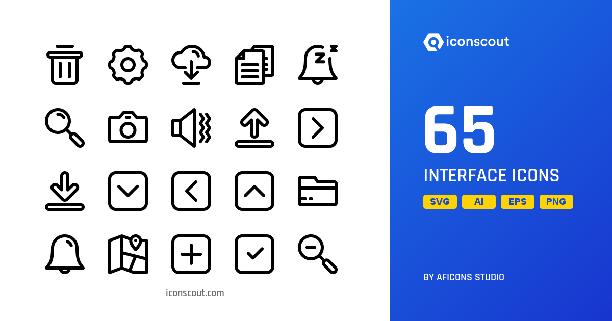 Download Interface Icon pack - Available in SVG, PNG, EPS, AI & Icon fonts
