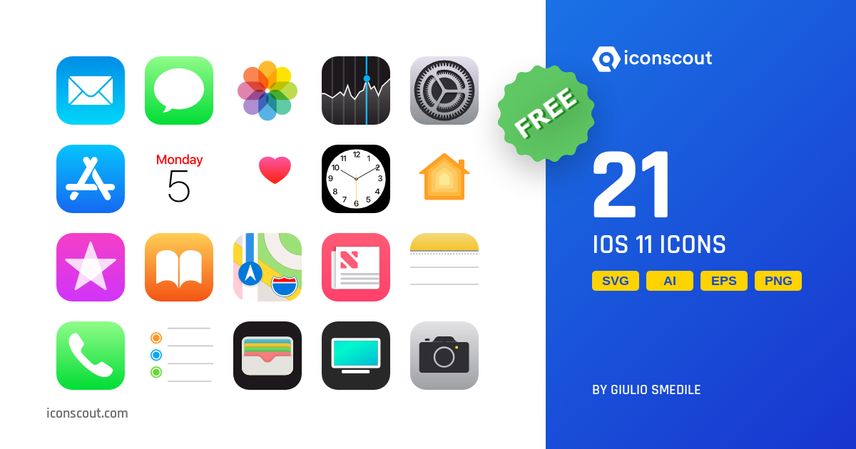 Download IOS 11 Icon pack - Available in SVG, PNG, EPS, AI & Icon fonts
