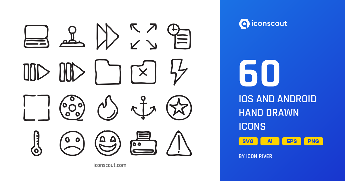 Download IOS And Android Hand Drawn Icon pack - Available in SVG, PNG, EPS,  AI & Icon fonts