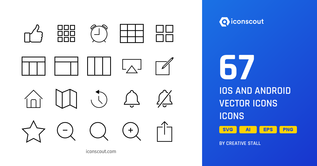 Download IOS And Android Vector Icons Icon pack - Available in SVG, PNG,  EPS, AI & Icon fonts