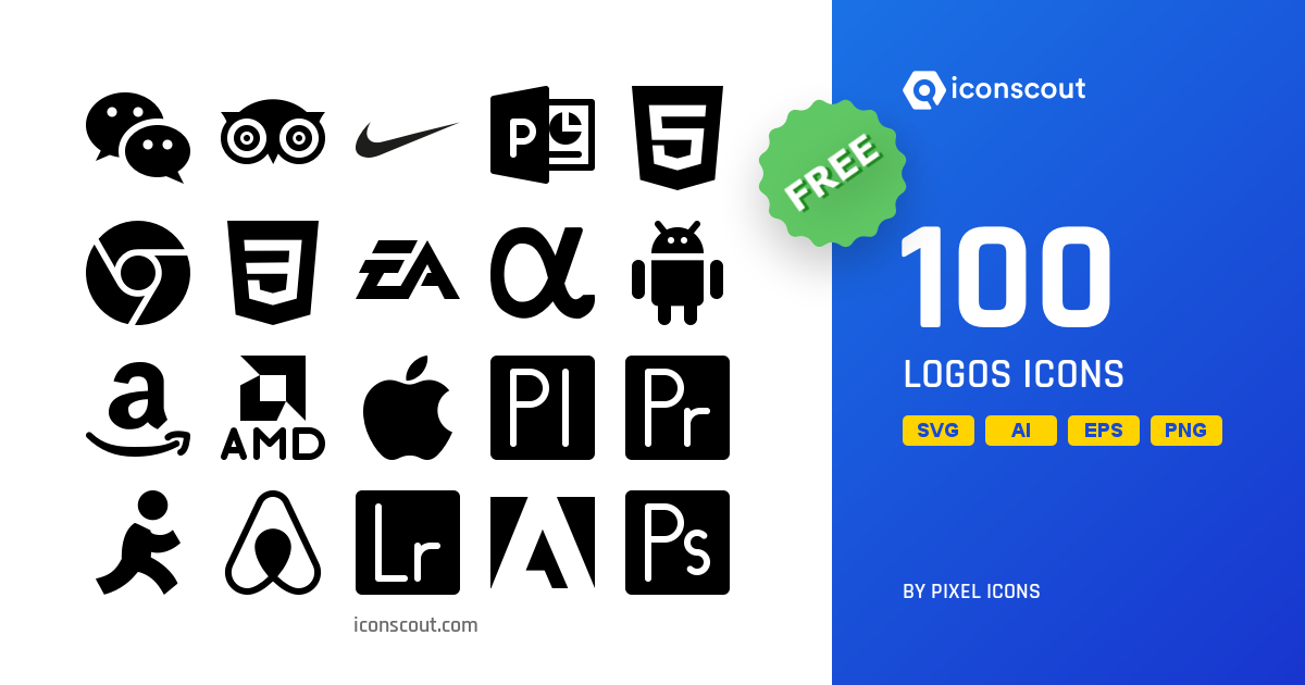 Download Logos Icon pack - Available in SVG, PNG, EPS, AI
