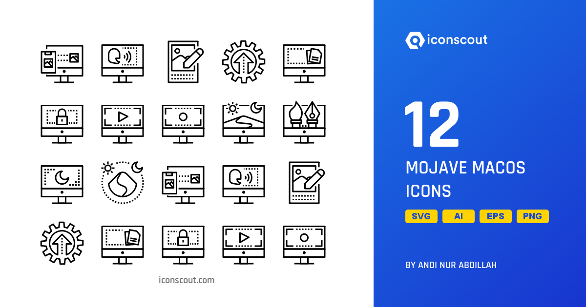 Download Mojave MacOs Icon pack - Available in SVG, PNG, EPS, AI & Icon  fonts