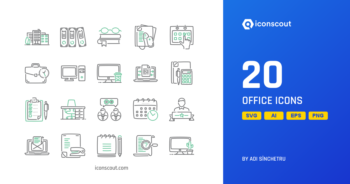 Download Download Office Icon pack - Available in SVG, PNG, EPS, AI ...