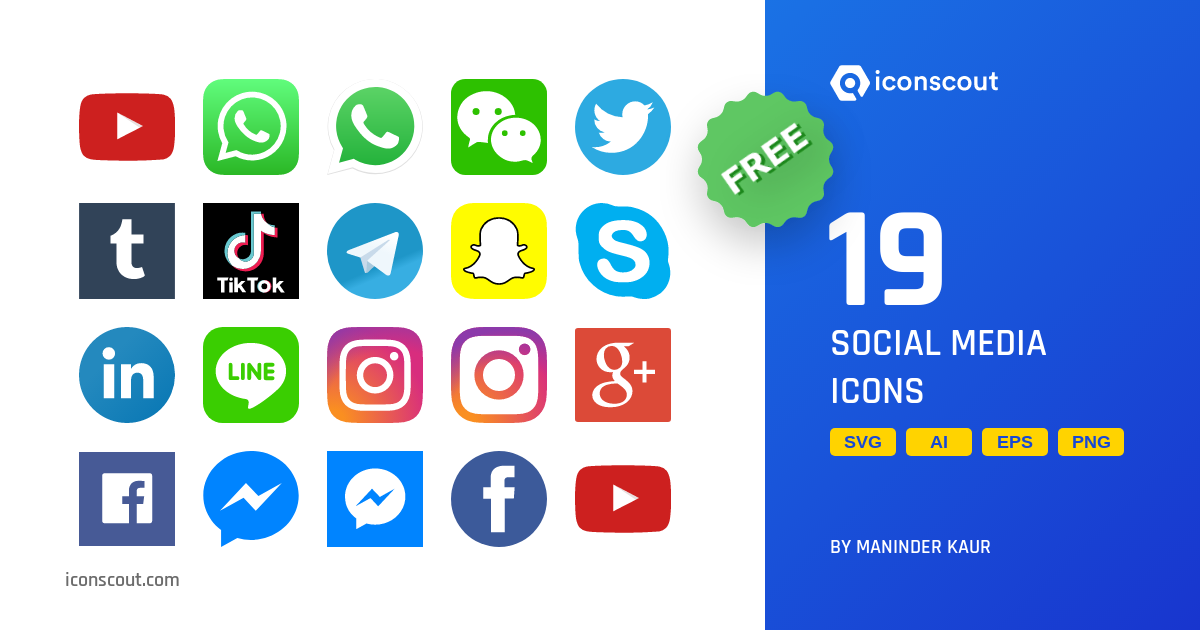 Download Social Media Icon Pack Available In Svg Png Eps Ai Icon Fonts