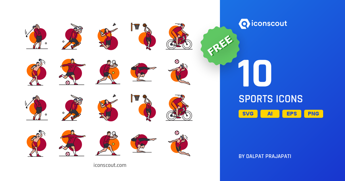 Sports free icon pack by Dalpat Prajapati on Iconscout