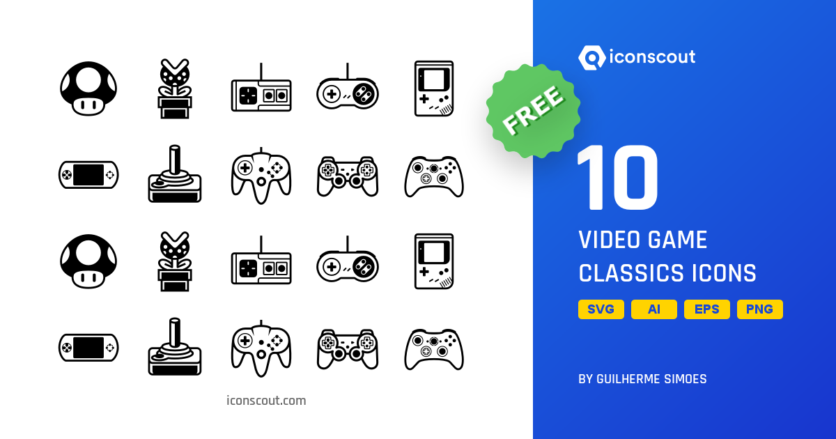 Download Download Video Game Classics Icon pack - Available in SVG ...