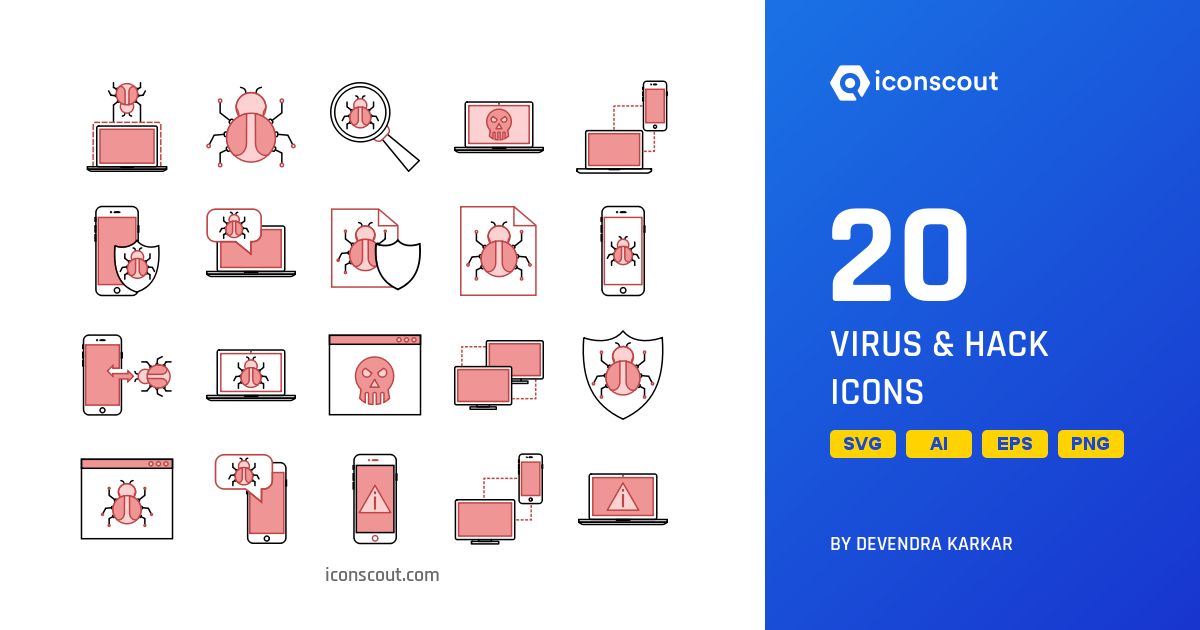 Download Virus & Hack Icon pack - Available in SVG, PNG, EPS, AI & Icon  fonts
