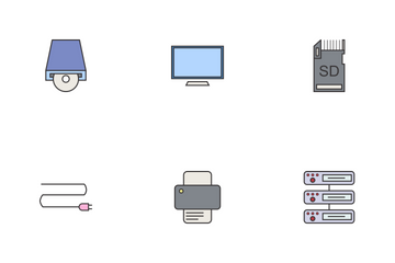 1 - Data & Devices Line Filled Icon Pack