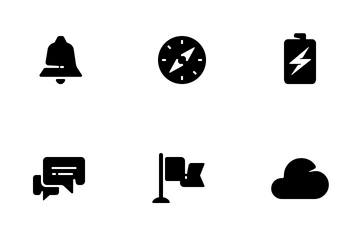 20 Stylish Glyphs For Mobile Interfaces Icon Pack