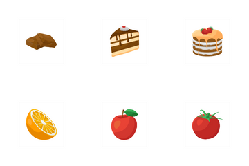 3d Food Realistic Icon Pack