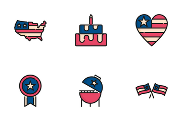 4th Of July And Independence Day Icon Pack