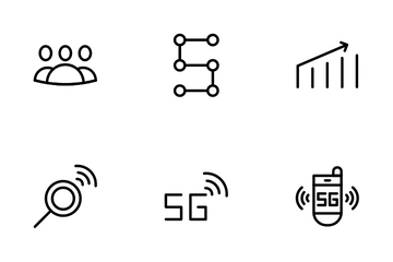 5G Connection Icon Pack