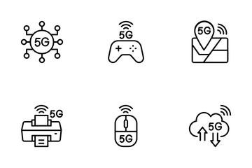 5G Feature Technology Icon Pack