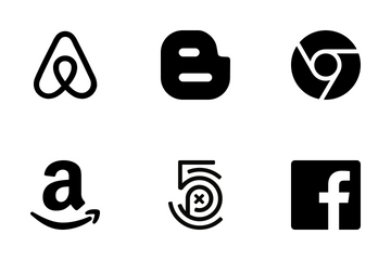 70 Flat Social Icons In Black Icon Pack