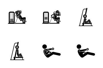 Abs Exercise Icon Pack