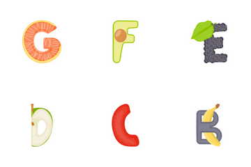 Abstract Alphabets Icon Pack