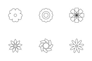 Abstract Flower Icon Pack