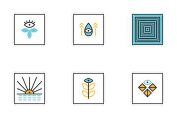 Abstract Geometric Shape In Color Icon Pack
