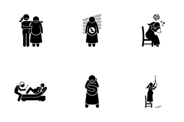 Abuse Woman Icon Pack