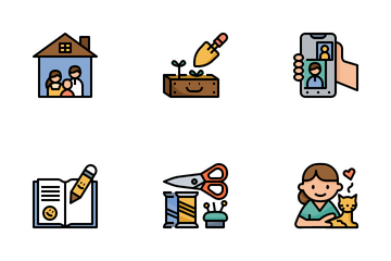 Activities At Home Icon Pack