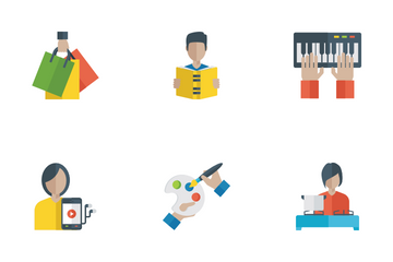 Activities Flat Icons Pack Icon Pack