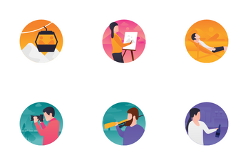 Activities Gradients Icon Pack
