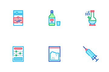 Addiction Bad Habits Icon Pack
