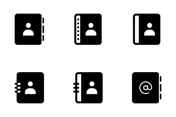 Address Book - Glyph Icon Pack