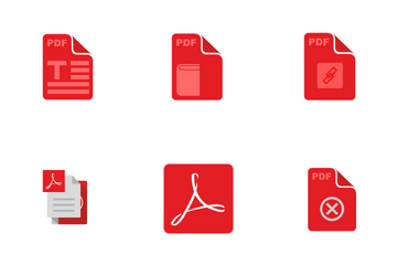 Adobe Acrobat & PDF Files And Conditions Icon Pack
