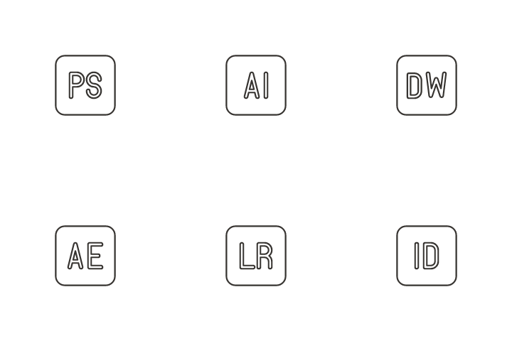 Adobe Products Icon Pack
